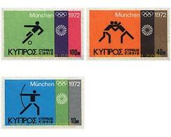Ref. 71716 * MNH * - CYPRUS. 1972. GAMES OF THE XX OLYMPIAD. MUNICH 1972 . 20 JUEGOS OLIMPICOS VERANO MUNICH 1972 - Ete 1972: Munich