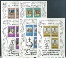 Antigua Redonda  1978    QE Coronation Set Of 5 Mini Sheets  MNH - Sin Clasificación