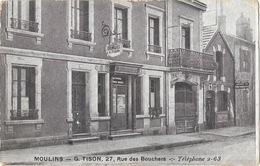 Magasin De Fourrures G. Tison - Moulins, Rue Des Bouchers - Carte Publicitaire Non Circulée - Tiendas