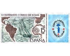 Ref. 85617 * MNH * - SPAIN. 1977. INDIES MAIL. ESPAMER-77 . CORREO DE INDIAS. ESPAMER-77 - Bateaux