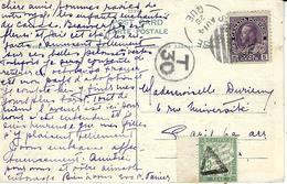 1925- C P A Du Canada  Affr. à 5 Cents  Pour La France TAXEE 45 C - Marcofilia (sobres)