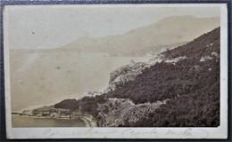 Ancienne Photo CDV Route De La Corniche Aux Environs De NICE  Avant 1900 - Photos