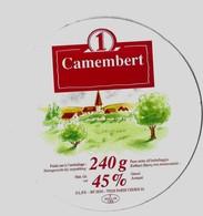 CAMEMBERT 1 ( UN VILLAGE) LAITERIE DU PONT DE SOULLES CHER, VOIR LE SCANNER - Fromage