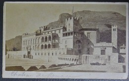 Ancienne Photo CDV Le Chateau De Monaco  Avant 1900 - Photos