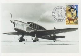 Carte   Maximum   FRANCE   Antoine  DE  SAINT  EXUPERY    LYON   2001 - Airplanes