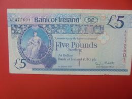 IRLANDE(NORD) 5 POUNDS 2013 CIRCULER (B.11) - Irlanda