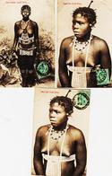 Frlot De 3 Cartes Jeunes Filles Poitrines Nues ( Zoulou Et Swazi ) TB - South Africa