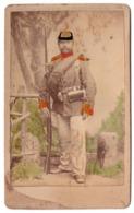 Mainz  C.1870 - Photo Cdv Militaire Allemand Fusil Avec Baillonnette - Anciennes (Av. 1900)