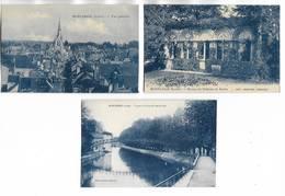 45 - Lot De 3 Cartes Postales Différentes De MONTARGIS. Cartes Bleutées. Voir Le Scan - Montargis