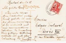 Allemagne, Ambulant  Cologne/frankfort En 1908 TB - Briefe U. Dokumente