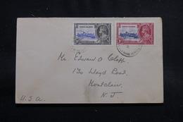 ÎLES VIERGES - Enveloppe Pour Les Etats Unis En 1935, Affranchissement Plaisant - L 55253 - British Virgin Islands