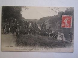 95 Val D'Oise Souvenir De La Guerre Meriel Section Mitrailleuses Au Pont Militaire Militaria - Meriel