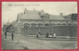 Frameries - Ecole Et Vue Du Centre ( Voir Verso ) - Frameries