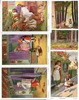 C2953 - O. Kubel - 6 Künstlerkarten Serie - Märchen Rotkäppchen - UVAchrom - FPhG - Otros Ilustradores