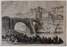 Napoléon III - Voyage De S.M. - Arrivée De L'Impératrice à Tolède - Page Original 1863 - Historical Documents