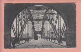 OLD POSTCARD -  GERMANY - DEUTSCHLAND -  MAGDEBURG - TRAM - KONIGSBRUCKE - Magdeburg
