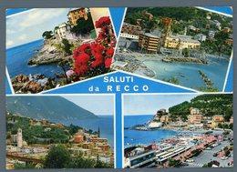 °°° Cartolina - Saluti Da Recco Vedute Viaggiata °°° - Genova (Genoa)