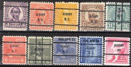 USA Precancel Vorausentwertung Preo, Bureau New York, Albany 10 Diff. Bureaus - Estados Unidos