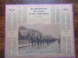 Almanach Des Postes Et Telegraphes 1916 Annee Bissextile - Calendars