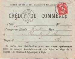 Aisne :- GUISE Dateur Type A3 Sur 10c.semeuse Maigre - Poststempel (Briefe)
