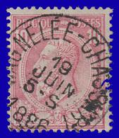 """COB N° 46 - Oblitération """"CONCOURS""""- """"WAGNELÉE-CHASSART"""" - 1884-1891 Leopold II."""