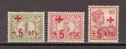 Nederlands Indie Netherlands Indies Dutch Indies 135-137 MLH ; Cijfer, Cipher, Cifre, Cifra 1915 - Niederländisch-Indien