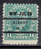 USA Precancel Vorausentwertung Preo, Locals New York, Albany L-9 ITS - Vereinigte Staaten