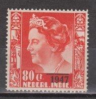 Nederlands Indie 330 MLH ; Koningin, Queen, Reine, Reina Wilhelmina Opdruk 1947 NETHERLANDS INDIES PER PIECE - Niederländisch-Indien