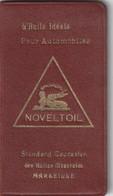 Carnet Noveltoil L'huile Ideale Pour Automobile Standard Caucasien Des Huilles Minerales Marseille - Advertising