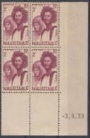 N° 90 En Bloc De 4 Coin Daté 03/08/38 - X X - ( C 450 ) - Gomme Tropicale - Mauritanie (1906-1944)