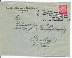 Sudetenland (009264) Propaganda Firmenbrief Mit Befreiungsstempel Postamt Trautenau, Vom 8.10.1938 - Sudètes