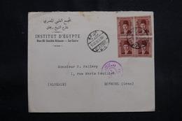 EGYPTE - Enveloppe Du Caire Pour L 'Algérie En 1939 Avec Cachet De Censure, Affranchissement Plaisant - L 55316 - Egypt