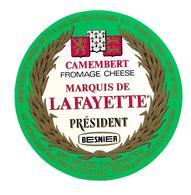 ETIQUETTE De FROMAGE..CAMEMBERT PRESIDENT Fabriqué En NORMANDIE. ( Orne 61-Q)..BESNIER - Cheese