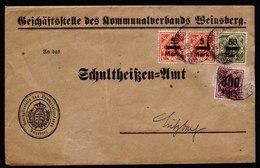 A6633) AD Württemberg Infla Brief Weinsberg 28.03.23 N. Sulzbach - Wurttemberg