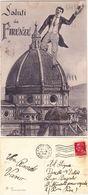 FIRENZE - SALUTI DA... - SURREALISMO - VIAGG. 1932 -98571- - Firenze (Florence)
