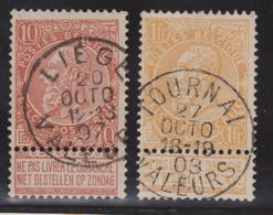 57-65 Liège / Tournai - Valeurs. Superbe - 1893-1900 Fine Barbe