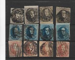 België Medaillons  Zonder Watermerk Assortiment - 1858-1862 Medallions (9/12)