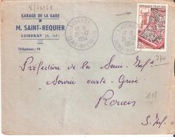 Seine Maritime :- LUNERAY Dateur Type A7 - Poststempel (Briefe)