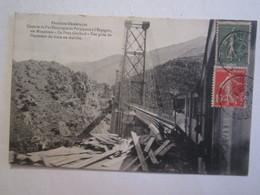 66 Pyrénées Orientales Chemin De Fer électrique Parpignan Espagne Via Montlouis Le Pont Gisclard Train - Frankreich