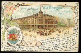 Paris Nouvelles Galeries à La Ménagère Boulevard Bonne Nouvelle 1900 Pionnière - Arrondissement: 02