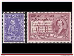 Ruanda 0200/201** Mozart  MNH - Ruanda-Urundi