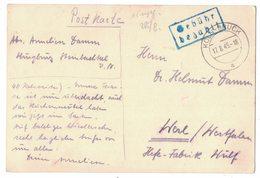 IZ541  Germany 1945 Koln Gebühr Bezahlt To Werl - Deutschland