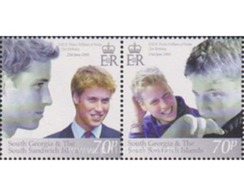 Ref. 127917 * MNH * - SOUTH GEORGIA AND THE SOUTH SANDWICH Islands. 2003. 21st ANNIVERSARY OF THE BIRTH OF PRINCE WILLIA - Südgeorgien