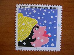 France Obl N° 1197 Cachet Rond Bleu - Autoadesivi
