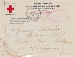 Hôpital Bénévole De FITOU (Aude) 18.02.1916-  PAS COURANT - Postmark Collection (Covers)
