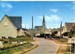 N°5094 T -cpsm St Laurent De La Plaine -entrée Du Bourg- - Andere Gemeenten
