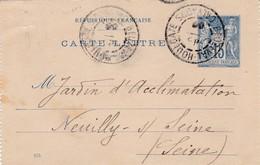Cachet A De BEUZEVAL-HOULGATE Calvados Sur Devant De Carte Lettre Au Type Sage RARE - Postmark Collection (Covers)