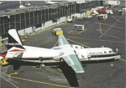 Delta Air Lines DAL Fairchild Hiller FH-227C At LGA - 1946-....: Era Moderna