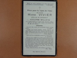 Marie Vivier épse Willocq Oeudeghien 1857 Buissenal 1929 /26/ - Devotion Images