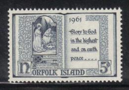 W1477 - NORFOLK 1961 , Yvert N. 50  MNH . Natale - Isola Norfolk